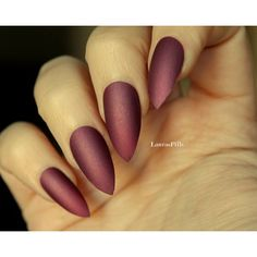 Dark mauve delicate shimmer stiletto false nails! Matte mauve pink... ($9) ❤ liked on Polyvore featuring beauty products, nail care and nails