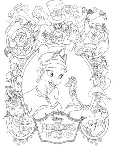 Princess Tiana Was Thrilled Always With Prince Frog Coloring Pages