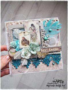 Handmade Best Friend Card friendship card 3D by MaremiSmallArt
