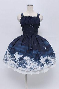 画像1: Innocent World / 奇跡の夜空バッスルジャンパースカート