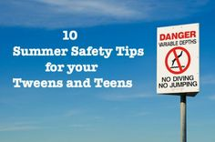 10 great questions to ask your kids about summer safety. Get the conversation started and keep your tweens and teens safe all summer long!