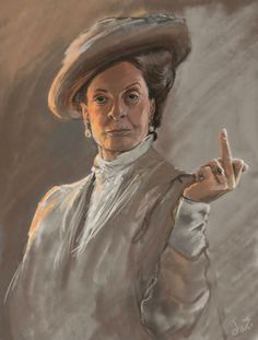 The Dowager Countess stunningpicture: Portrait I drew of the lovely Maggie Smith. I am getting this framed and hung . Anim Gif, Animiertes Gif, Animated Gif, Maggie Smith, Gifs, Animation, Dowager Countess, Downton Abbey, Fantastic Beasts