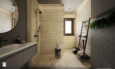 Drewno + szarość - Duża łazienka z oknem, styl skandynawski - zdjęcie od ELEMENTY