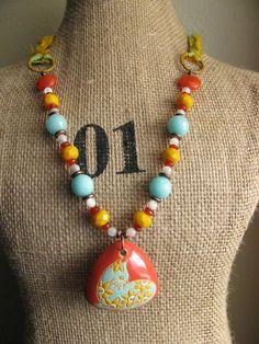 Heidi Post creation using Golem Studio ceramic beads and Pendant