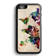 World Map Urban Watercolor iPhone 7 Case