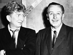 Behind-the-Scenes-During-Production-of-The-Jungle-Book---Sterling-Holloway-and-Walt-Disney