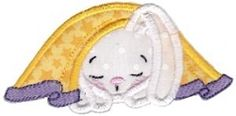 Snuggle Bunny Applique 11 - 3 Sizes! | What's New | Machine Embroidery Designs | SWAKembroidery.com Bunnycup Embroidery