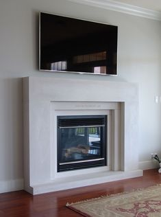 contemporary-fireplace-mantels-Living-Room-Modern-with ...