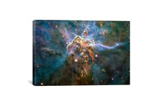 This is a canvas print of Mystic Mountain in Carina Nebula (Hubble Space Telescope) from iCanvas. It will arrive ready to hang on a...