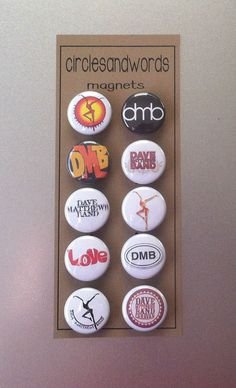 Dave Matthews Band DMB 10 Piece Kitchen Magnet by circlesandwords, Play That Funky Music, Music Love, My Music, Band Pictures, Dave Matthews Band, Mottos, No One Loves Me, Devil, My Etsy Shop