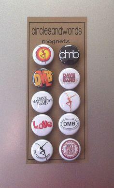 My personal favorite band. ~ Dave Matthews Band DMB 10 Piece Kitchen Magnet Set #DMB #LoVE #DaveMatthews