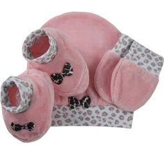 Cegonha Feliz Roupas Bebê Menina : Kit Touca Luvinha e Pantufinha Para Maternidade