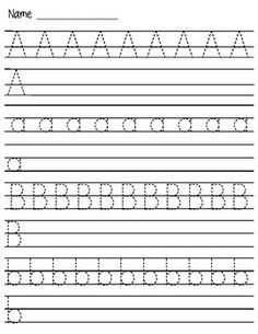Handwriting-Worksheet-A-Z FREE Printables | Writing/Literacy ...