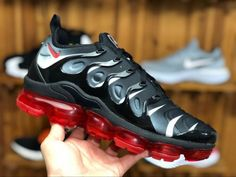 48818ba59d0 Mens Nike Air VaporMax Plus Black Red AQ8632-001 For Sale-3