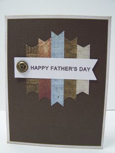 Stampin Up Handmade Greeting Card: Father's Day Card, Happy Father's Day, Step Father Card, Father-in-Law Card, Best Father, Husband
