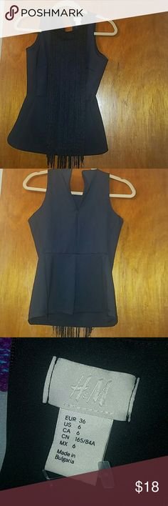 Fringe top WORN ONCE Worn only once. Great condition no stains or rips H&M Tops