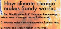 How Climate Change made Hurricane Sandy.