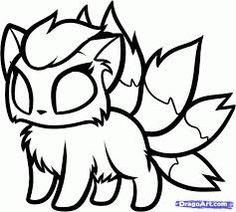 Lineart Chibi Pokemon