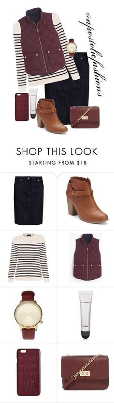 """Apostolic Fashions #1566"" by apostolicfashions ❤ liked on Polyvore featuring Hobbs, LC Lauren Conrad, Saint James, J.Crew, Komono, MAC Cosmetics, Dagmar, Forever 21, modestlykay and modestlywhit"