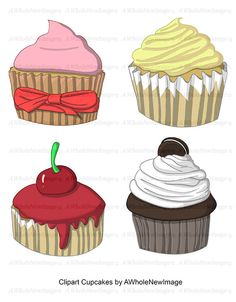 Clipart Cupcakes by AWholeNewImage on Etsy, $4.00