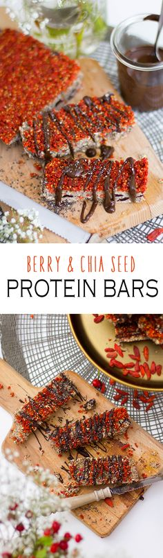 Healthy DIY Protein Bars with Goji Berries, Chia Seeds and Oats