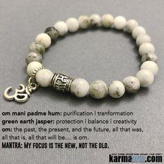 Green Earth #Jasper (#Protection | Balance | #Creativity)has been revered since antiquity for its powers to soothe the spirit, banish #evil thoughts and increase #fertility. It is the ultimate #sleep #stone.      #Beaded #Beads #Bijoux #Bracelet #Bracelets #Buddhist #Chakra #Charm #Crystals #Energy #gifts #gratitude #Handmade #Healing #Jewelry #Kundalini #LawOfAttraction #LOA #Love #Mala #Meditation #Mens #prayer #pulseiras #Reiki #Spiritual #Stacks #Stretch #Womens #Yoga #YogaBracelets