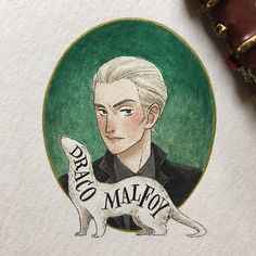by Melody Howe >> I love how white ferrets have just became his Thing. Like they were only associated with him for like one short scene in the fourth book but it was just so iconic