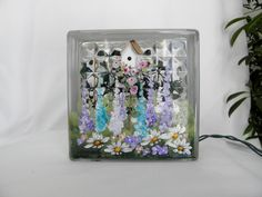 Shop for glass blocks on Etsy, the place to express your creativity through the buying and selling of handmade and vintage goods. Painted Glass Blocks, Decorative Glass Blocks, Birdhouse, Night Light, Arts And Crafts, Lights, Bottle, Jars, Garden
