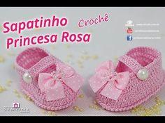 Sapatinho de crochê Princesa Rosa - passo a passo - #ProfessoraSimone #c...                                                                                                                                                                                 Mais
