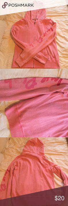 Victorias Secret PINK Zip Up Hoodie Size Medium. Super comfortable! PINK Victoria's Secret Tops Sweatshirts & Hoodies