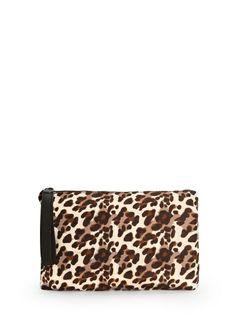 MANGO - Leopard print clutch