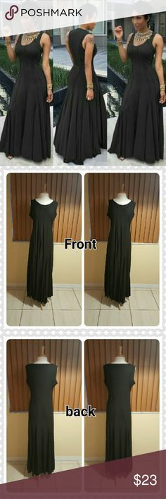 JUST IN. PAIGE U NECK RUFFLED MAXI DRESS 100% BNWOT. Good condition. Solid black. Has a small snag in front and on the inside of armpit. Polyester material. Under armpit /42 inches. Waist 42 inches. Hips 48 inches. Length from center / hem 55 inches. This is an Asian item which tends to run small Asian 3xl / us size 14. Please measure yourself carefully before buying this item. Measurement laid out on flat surface. Material is average. No zipper in back. Dresses Maxi
