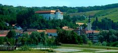 Lendava Castle in Slovenia, Photo from the bus, Nikon Coolpix L310, 31.8mm, 1/500s, ISO130, f/5.1, -0.7ev, panorama mode: segment 2, HDR photography, 201707101056