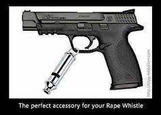 rape whistle with gun