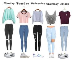 """""""♡♡"""" by smile-emily on Polyvore featuring WithChic, Topshop, adidas Originals, Converse and adidas"""