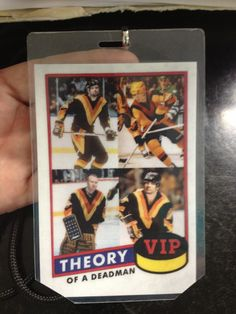 LOVE our VIP tags!! Theory Of A Deadman!! Go Canucks!! Lol