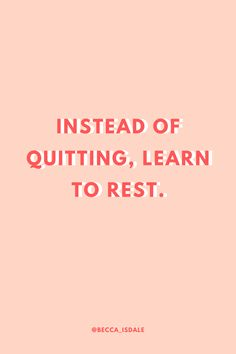 In any aspect of life, learn to give yourself time to rest instead of giving up! You are far more capable of achieving everything you want to more than you think! Stay positive, rest when you need to, and keep going! You got this! Mom Quotes, Daily Quotes, Words Quotes, Wise Words, Quotes To Live By, Life Quotes, Sayings, Stay Positive Quotes, Motivational Quotes