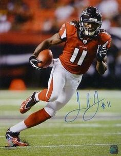 Julio Jones Autographed Photograph - 16x20 In Red Jersey - Autographed NFL Photos by Sports Memorabilia. $106.87. JULIO JONES AUTOGRAPHED/SIGNED ATLANTA FALCONS 16X20 PHOTO IN RED JERSEY