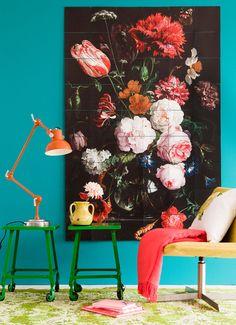 Ixxi Wanddecoratie Stilleven met bloemen 80 x 120 cm • de Bijenkorf