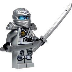 LEGO Ninjago: Minifigur Titanium Zane (silberner Ninja) mit Schulterrüstung und zwei Katanas (Schwerter) NEUHEIT 2015: Amazon.de: Spielzeug
