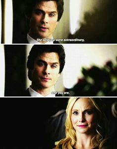Damon was awesome in this episode, he was nice but not pretending. He was seriously trying to be as nice as he can be. I love damon!!