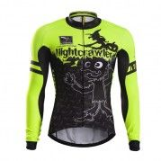 2015 Mens Cycling Jersey Long Sleeve Shadowwalker Fluorescent Yellow Cycling  Outfit f5f04a3e4