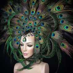 MADE TO ORDER Peacock Fantasy fairy nymph by PoshFairytaleCouture