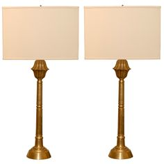1stdibs.com   Pair of Art Deco Console Lamps in Brass