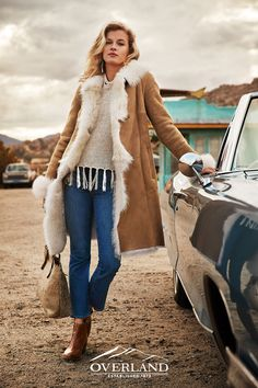 Overland is the nation's most trusted source of sheepskin coats for women. Browse our extensive shearling collection with a satisfaction guarantee. Cool Outfits, Casual Outfits, Fashion Outfits, Womens Fashion, Moda Hippie, Dolly Fashion, Sheepskin Coat, Shearling Coat, Western Wear