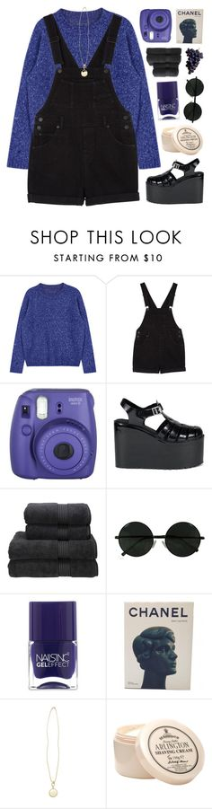 """""""~stressed, depressed but well-dressed"""" by emmas-fashion-diary ❤ liked on Polyvore featuring Monki, Fujifilm, UNIF, Christy, Nails Inc., Chanel, River Island and D.R. Harris & Co Ltd."""