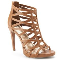 Public Desire Nude Strappy Lace Up Gladiator High Heel Sandals ...