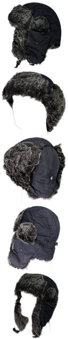 City Hunter W200A Original Solid Trapper Ski Hat (Navy)