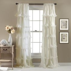 Shop for Lush Decor Nerina Ruffled Curtain Panel. Free Shipping on orders over $45 at Overstock.com - Your Online Home Decor Outlet Store! Get 5% in rewards with Club O!