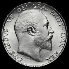1910 Edward VII Silver Shilling, BU